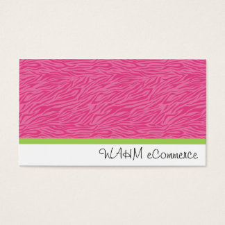 Pink Zebra with Green Stripe