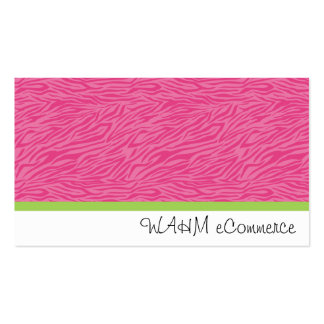 Pink Zebra with Green Stripe Pack Of Standard Business Cards