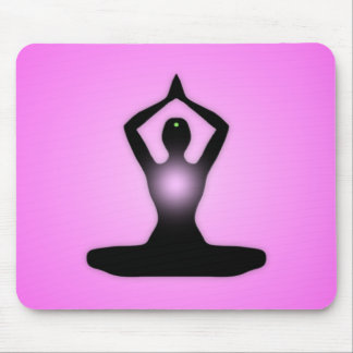 Pink Zen Meditation Sunburst Mouse Pad