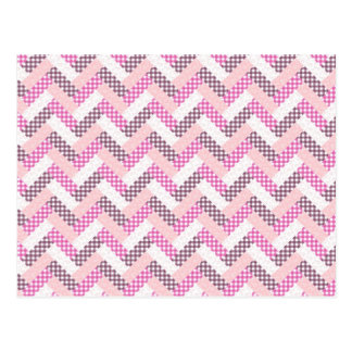 Pink Zig Zag Quilt Pattern Gifts for Her Postcard