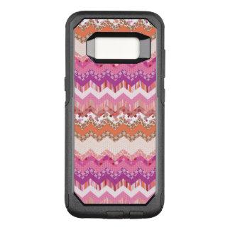 Pink zigzag background OtterBox commuter samsung galaxy s8 case