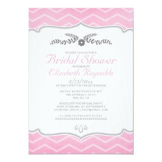 Pink Zigzag Bridal Shower Invitations