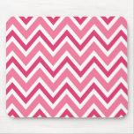 Pink zigzag chevron pattern mousepad