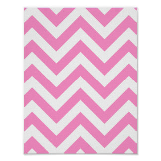 Pink zigzag chevron pattern poster