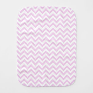 Pink Zigzag Girls Burp Cloth