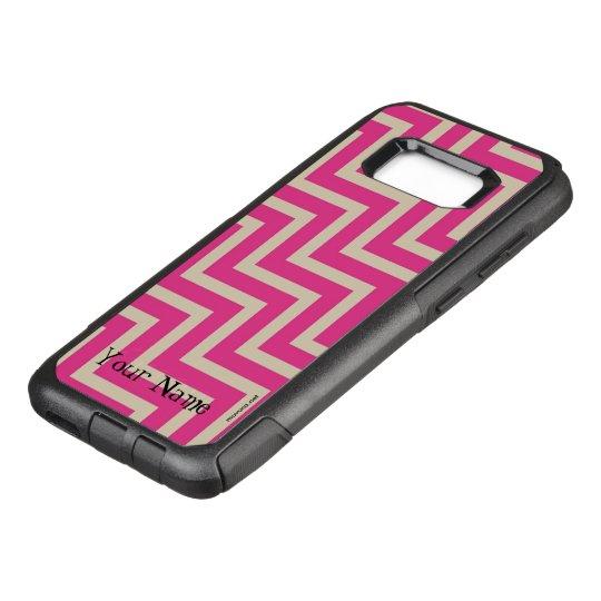 Pink zigzag OtterBox commuter samsung galaxy s8+ case