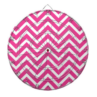 Pink Zigzag pattern Dartboard