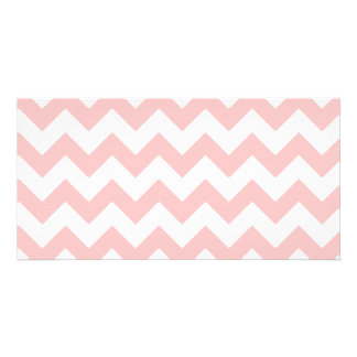 Pink Zigzag Stripes Chevron Pattern Girly Personalised Photo Card