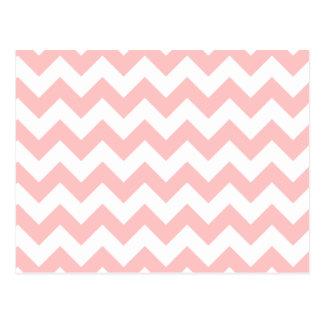 Pink Zigzag Stripes Chevron Pattern Girly Postcard