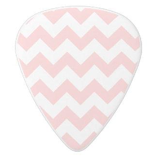 Pink Zigzag Stripes Chevron Pattern Girly White Delrin Guitar Pick
