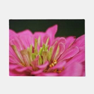 Pink Zinnia Door Mat