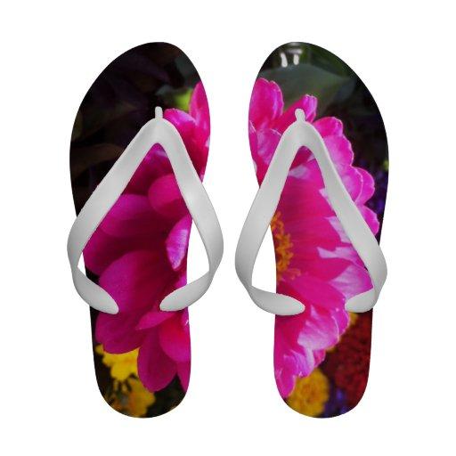 Pink Zinnia Sandals