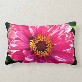 Pink Zinnia Lumbar Cushion