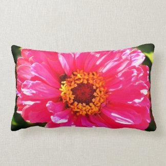 Pink Zinnia Lumbar Cushion