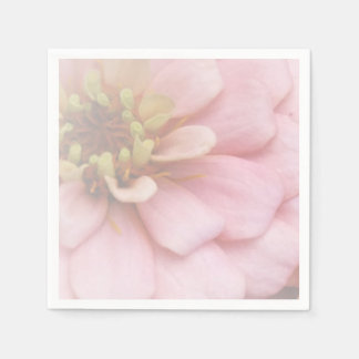 Pink zinnia paper Party Napkins Disposable Serviette