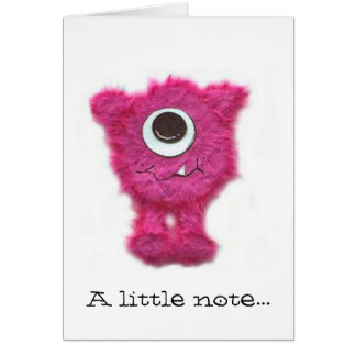 Pink Zippy Note Card