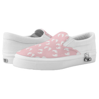 Pink Zipz Slip On Shoes, US Men 4 / US Women 6 Printed Shoes