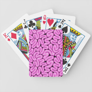 Pink Zombie Brain - Halloween Apocalypse Print Bicycle Playing Cards