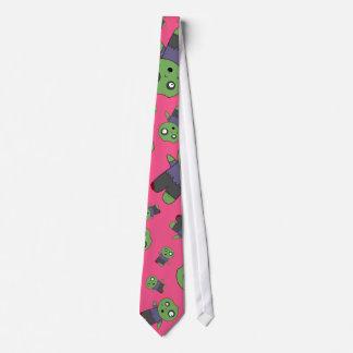 Pink zombies tie