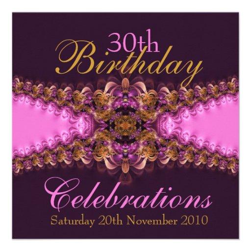 PinkBree Diva pink garter lace Invitation