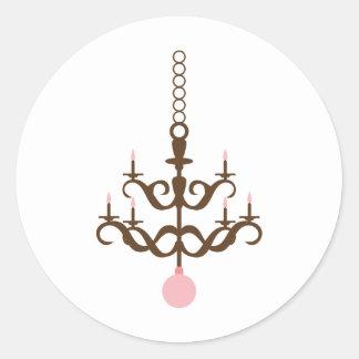 PinkCChandelierP5 Round Sticker