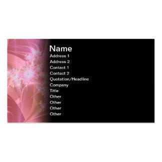 Pinkee Fractal Artwork Business Card Template