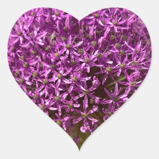 Pinkfarbener ALIUM Heart Sticker