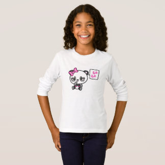 Pinkie Pinky Panda Girls Long Sleeve Tshirt
