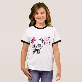 Pinkie Pinky Panda Girls  Ringer Tshirt