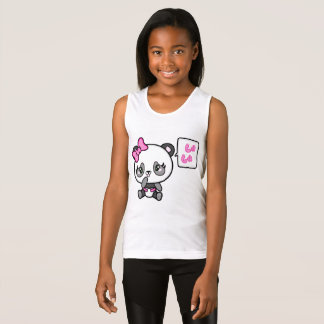 Pinkie Pinky Panda Girls Tank Top