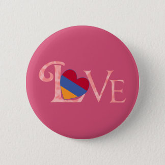 Pinkish Armenian LOVE 6 Cm Round Badge