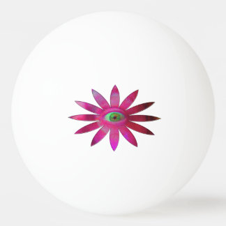 Pinkish Eye Flower Ping Pong Ball