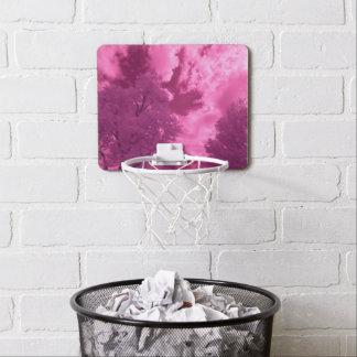 Pinkish Hues Infrared Cloud Mini Basketball Hoop