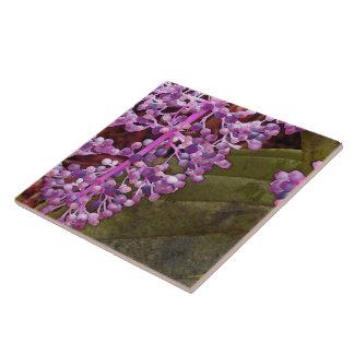 "PINKISH PURPLE ""BERRIES""/Chandelier Tree Ceramic Tile"