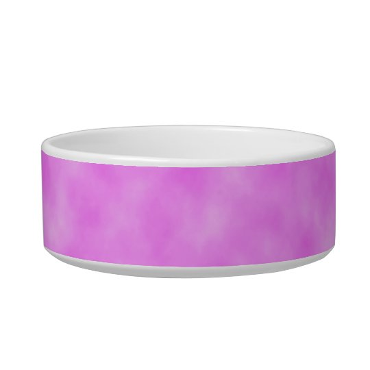 Pinkish Purple Created Clouds Abstract Art Design Bowl
