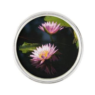 Pinkish Purple Lotus Waterlilies Lapel Pin