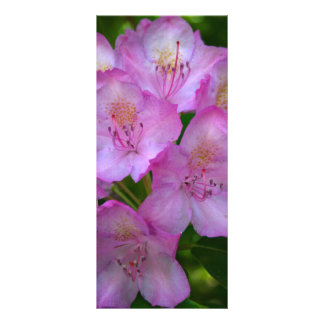Pinkish purple Rhododendron bookmarks Rack Card Template