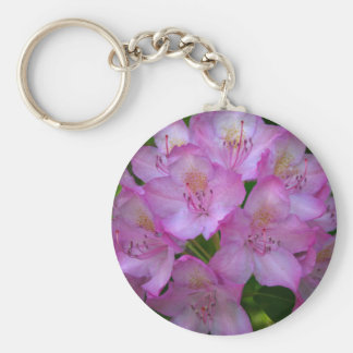 Pinkish purple Rhododendron Catawbiense Basic Round Button Key Ring