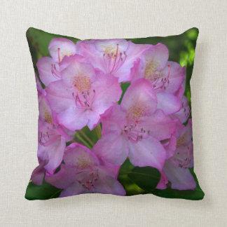 Pinkish purple Rhododendron Catawbiense Throw Pillow