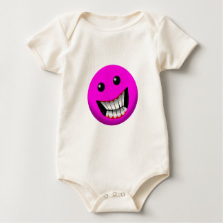 pinkish smile baby bodysuit