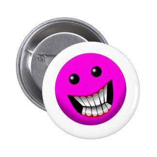 pinkish smile pinback button