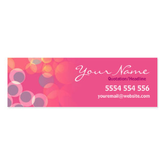 Pinko Bubbles Mini Business Contact Card Pack Of Skinny Business Cards