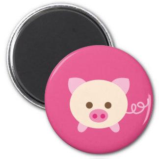 PinkPig2 6 Cm Round Magnet