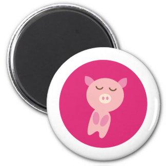 PinkPig3 6 Cm Round Magnet