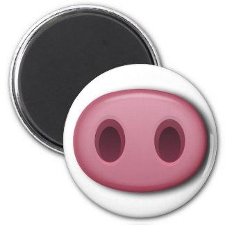 PinkPig Snout 6 Cm Round Magnet