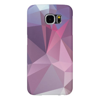 Pinks Blues Abstract Pyramid Pattern Art Samsung Galaxy S6 Cases