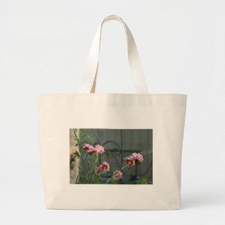 Pinks growing in a Cotswold Garden Large Tote Bag