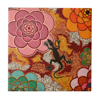 Pinks of the desert small square tile