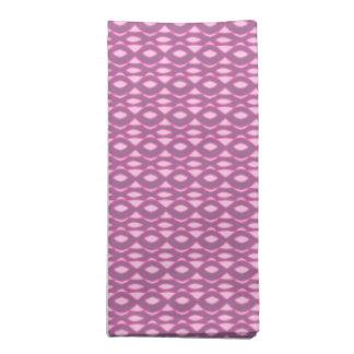 Pinks on Purple Abstract Napkin