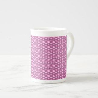 Pinks on Purple Abstract Tea Cup